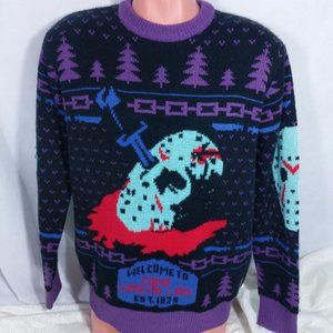 Friday The 13th Ugly Christmas Sweater Medium